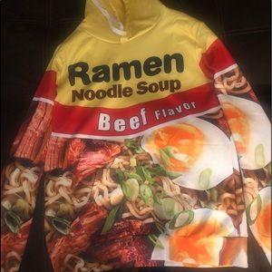 Jackets & Blazers - Ramen noodle soup beef flavored hoodie